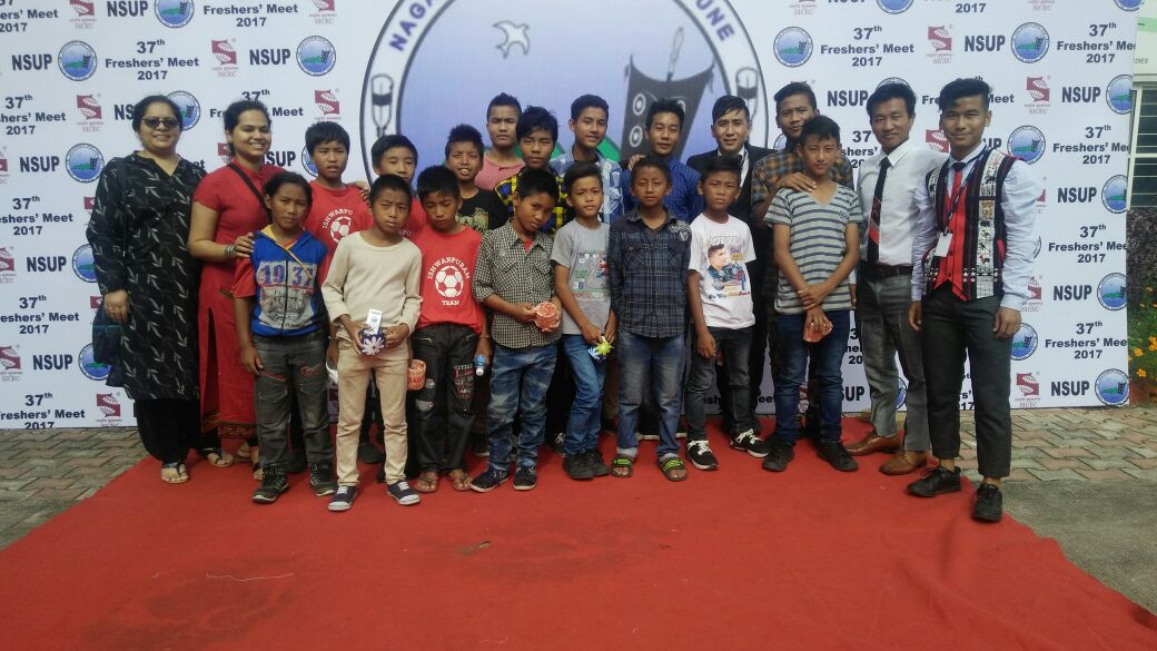 Ishwarpuram children at Symbiosis Nagaland Students association