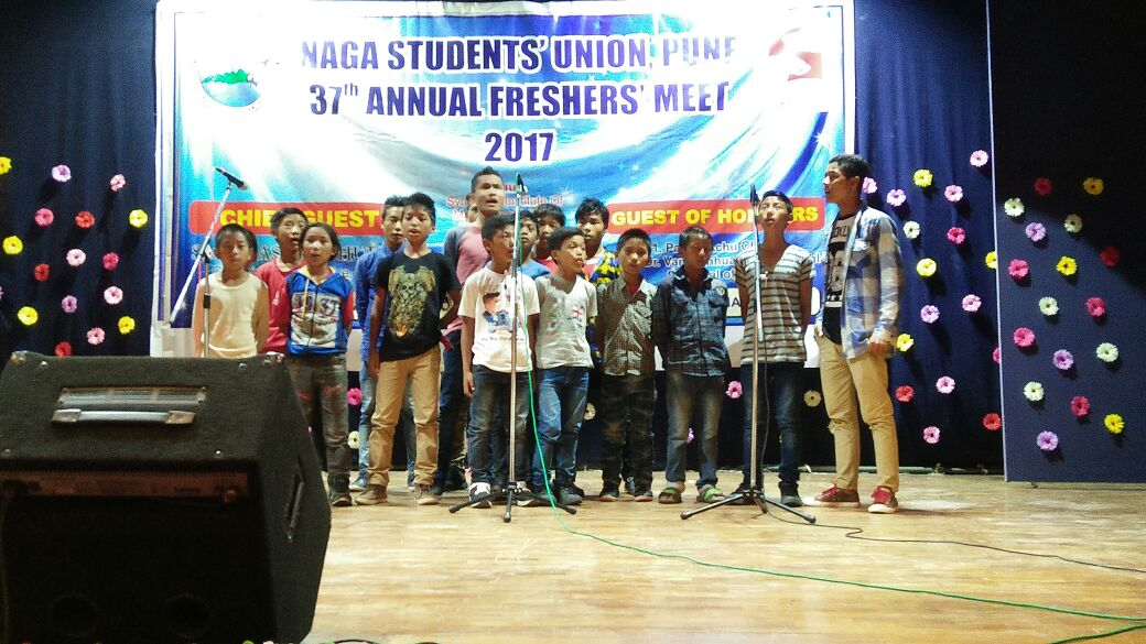 Ishwarpuram children performing at Symbiosis Nagaland Students association