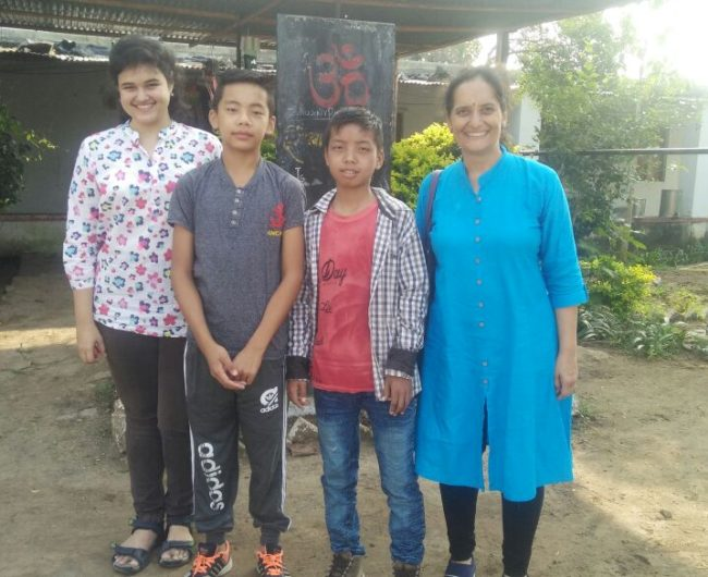 Children stayed with local families in Pune for Diwali